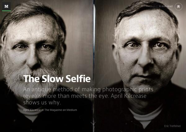 Slow selfie head