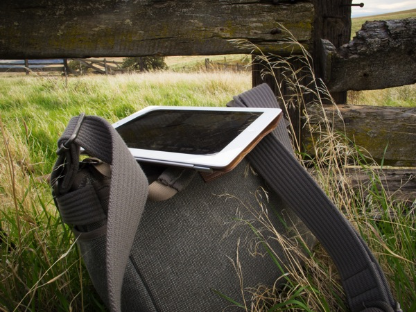 iPad literally in a field