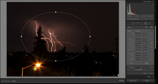 Lightning lightroom