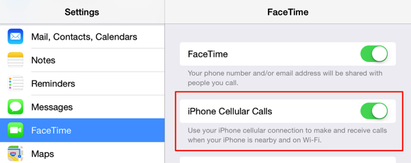 Facetime settings ios8