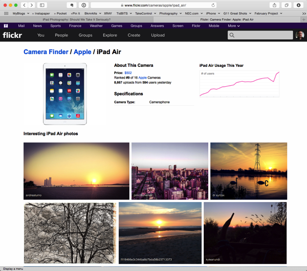 Flickr ipad air stats