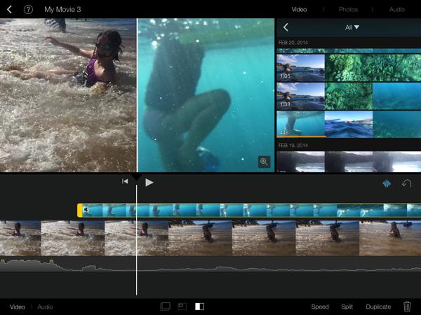 Imovie splitscreen 3
