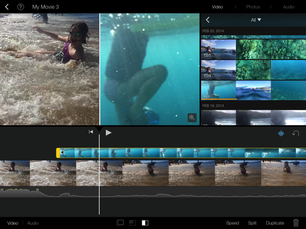 Imovie splitscreen 3