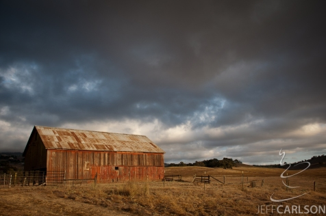 Petaluma Barn, Sunset
