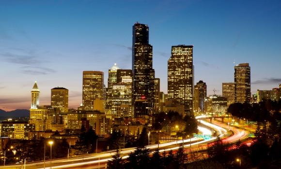 Seattle Skyline Dusk v2