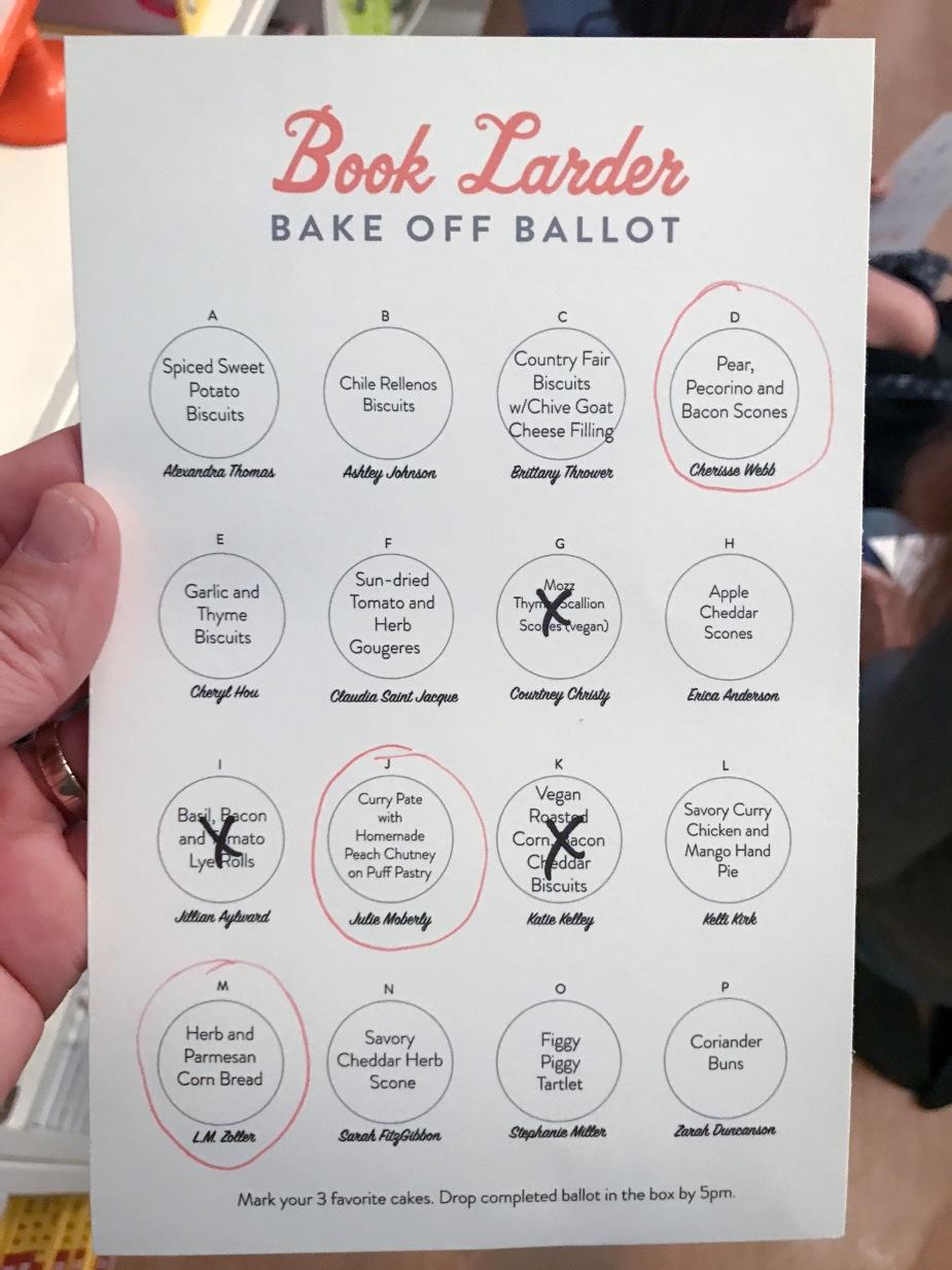 Bakeoff Ballot
