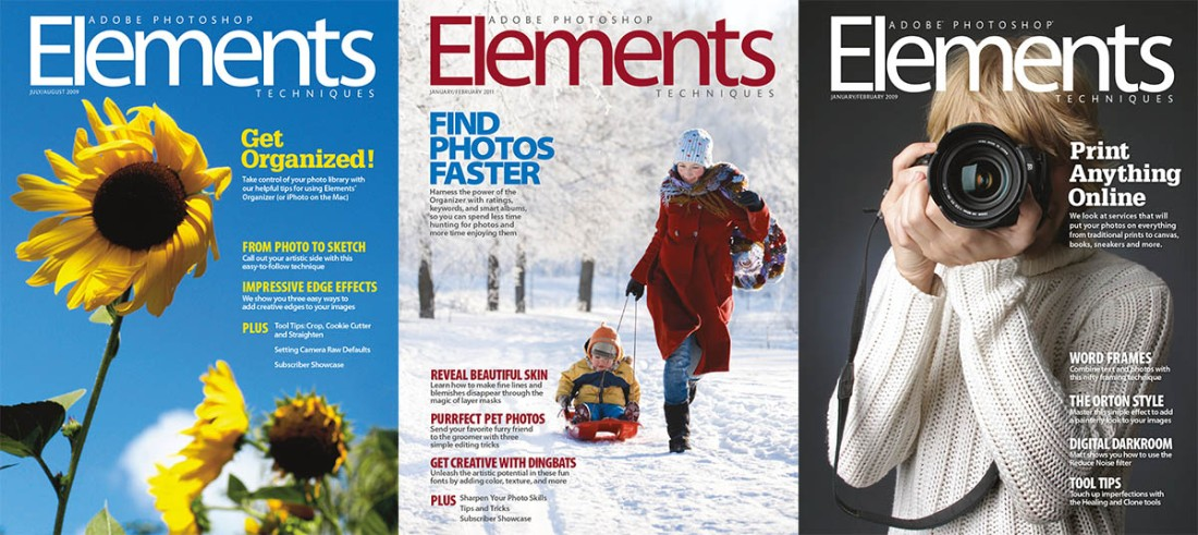Back Issues of Photoshop Elements Techniques – Jeff Carlson