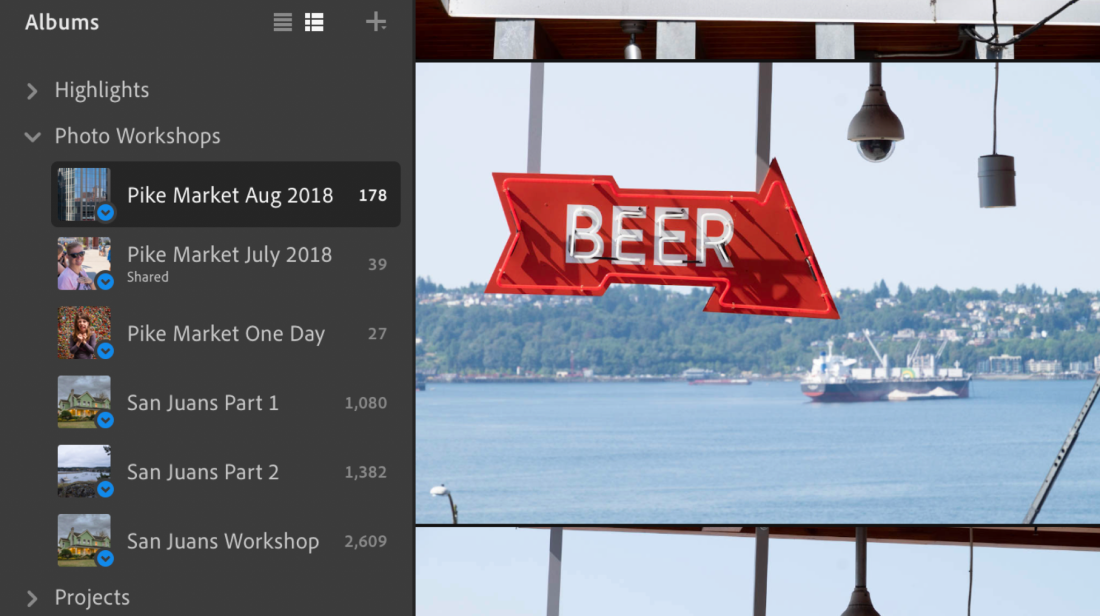 Albums in Lightroom and Classic, Part 1 – Jeff Carlson